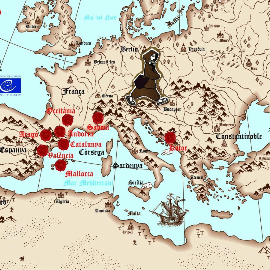 MAPA EUROPA CATARS